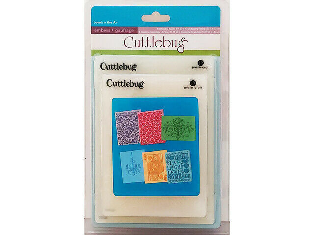Provo Craft Cuttlebug Love's in the Air Embossing Folder Set #2000221