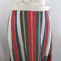 Vtg Koret USA Women's 12 Wool Blend Pleated Plaid Long Skirt - $24.70