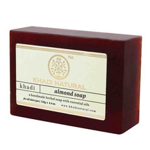 Khadi Natural Almond Soap Non-Greasy Handmade Herbal Soap(125gm/4.409oz) - $9.99