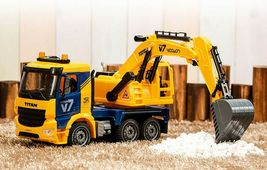 Yoowon Toys Titan Excavator Truck Sound Lights Vehicle Heavy Equipment Toy Car image 3