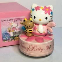 Hello Kitty Fairy Kitty Flower Music Box Figure 2000 Sanrio Free Shipping RARE - $191.09