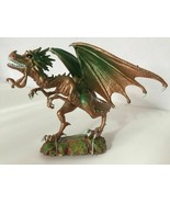 Fantasy Green Dragon Figure Runner Warrior Model Toy Figurine Mobile Joi... - $26.79