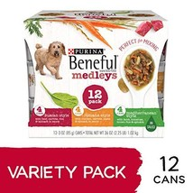 Purina Beneful Wet Dog Food Variety Pack, Medleys Tuscan, Romana & Medit... - $27.67