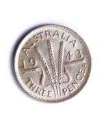 1943 D Australia Threepence 3 Pence Silver Coin AU KM# 37 - €8,64 EUR