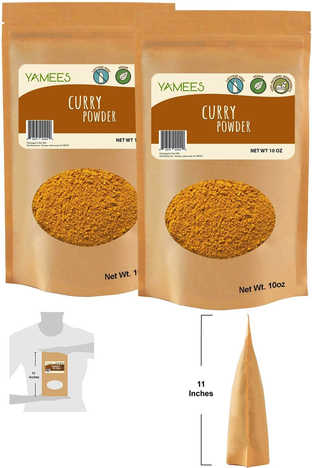 Primary image for Yamees Bulk Curry Powder – Basic Spices And Seasonings Set - Ground Curry Powd