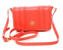Tory Burch Landon Mini Cross Body Bag Leather Poppy Coral Orange Small RRP£275 - $251.57