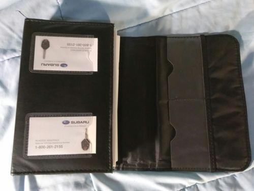 2014 SUBARU LEGACY & OUTBACK OWNERS MANUAL BOOKS NAV EYESIGHT REMOTE START CASE