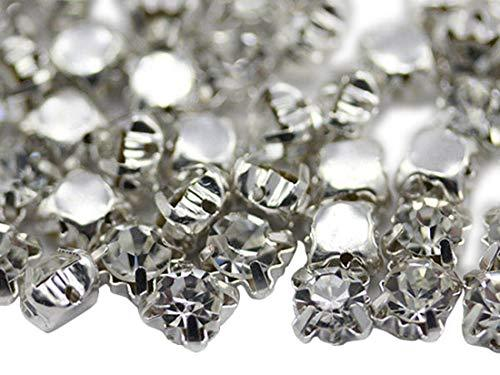 Primary image for 4.75mm SS18 Sew on Crystal Diamante Rhinestone Rose Montee Beads for Sewing and