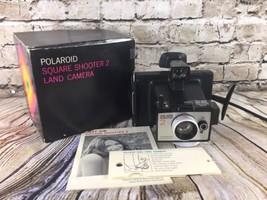 Vintage POLAROID Square Shooter 2 Land Camera in Original Box   - $35.53