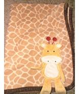 Koala Baby Giraffe Blanket Brown Animal Spot Print Yellow Tan 3D - $38.59