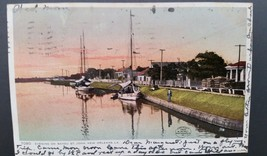 Bayou St John New Orleans Louisiana LA Boats postcard PC 1907! - $9.73