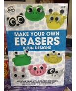 Make Your Own Animal Erasers & Fun Designs Craft Kit Rare Oven Bake Bran... - $14.99