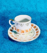 Inarco Porcelain Tea Cup & Saucer Rose Floral Chintz Attracted E2669 - $10.66