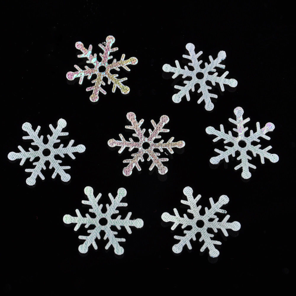 300pcs Party Shiny Snowflake Classic Ornaments Christmas Tree Holiday Home Decor