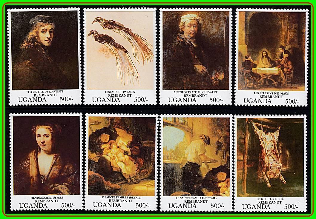 Primary image for UGANDA = PAINTINGS by REMBRANDT MNH  COSTUMES, JUDAICA, RELIGION, BREASTFEEDING
