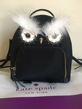 Kate Spade %Authentic NYLON OWL TOMI STAR BRIGHT BACKPACK BAG IN BLACK      - $99.99