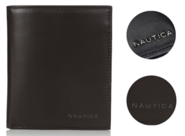 New Nautica Men's Premium Leather Credit Card ID Organizer Big Wallet 31NU19X003