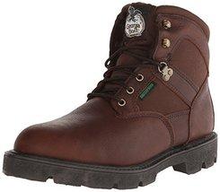 Georgia Boot Men's Homeland 6 Inch Work Shoe, Brown, 8 M US - $94.04