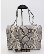 NWT Tory Burch Fleming Embossed Snake Leather Convertible Shoulder Bag New - $286.04