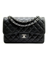 CHANEL Black CAVIAR Quilted Leather Classic JUM... - $4,999.00