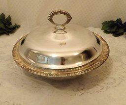 Vintage Leonard Silver Plate 4 QUART Covered Casserole Serving Dish w Gl... - €43,11 EUR
