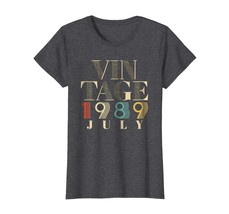 Brother Shirts - Retro Classic Vintage Born In JULY 1989 Aged 29 Years O... - $19.95+
