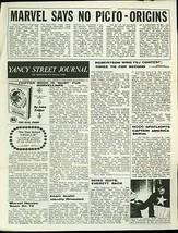 Yancy Street Journal Fanzine #12 1966- Mike Friedrich- Marvel Comics Fandom FN - $297.06