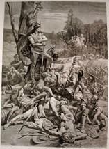 Antique Etching Art Print Titled: THE DEATH OF CORREUS D.U.N. Maillart, ... - $29.99