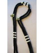 ENDURANCE BLACK ~ HORSE RHYTHM BEADS ~ Size 54 Inches - $19.00