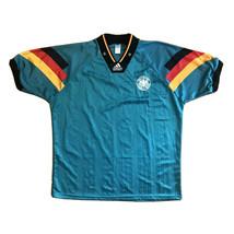 Vintage Adidas Equipment 1992 Germany Soccer Jersey Shirt Green Mens Siz... - $99.99