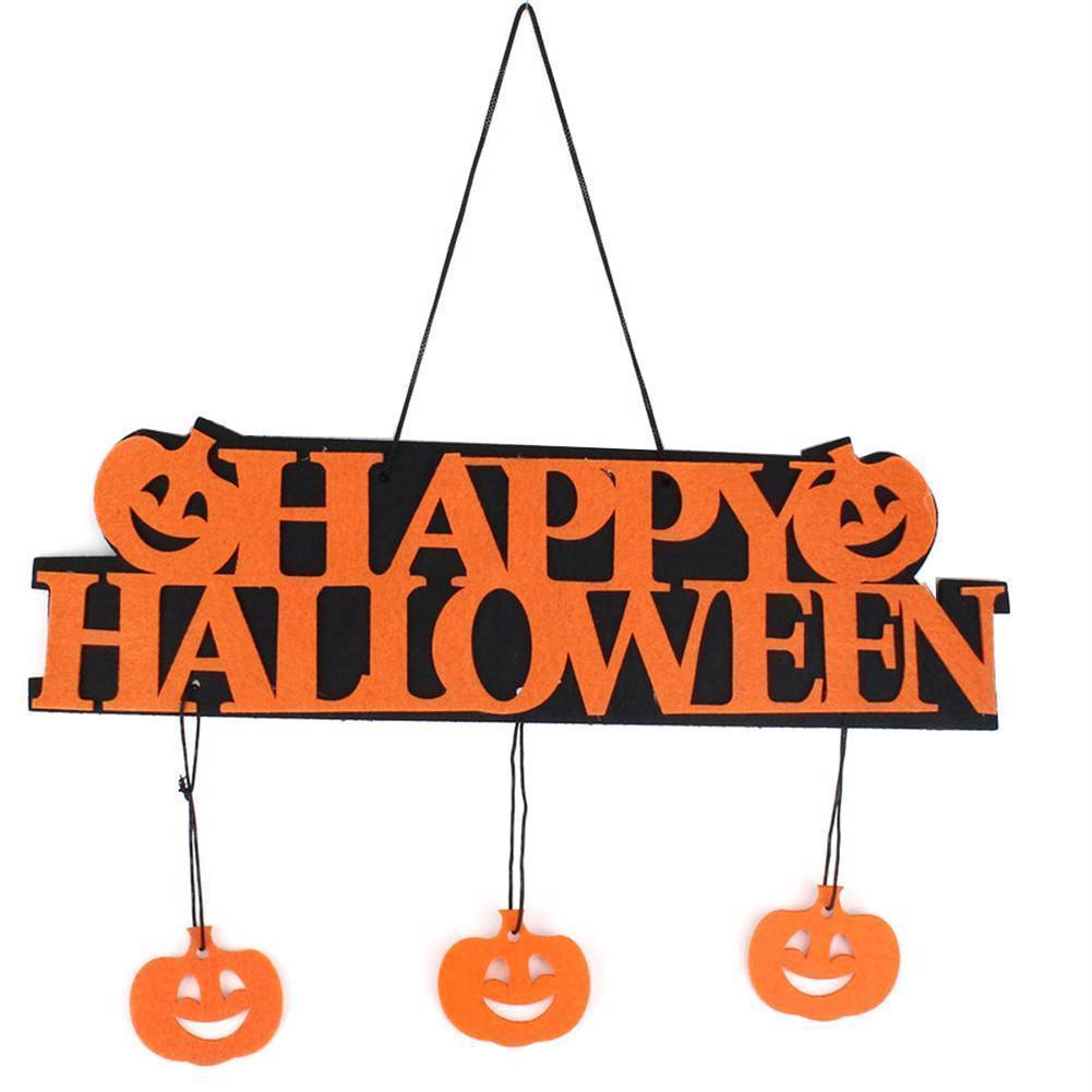 Halloween Decoration Happy Hanging Hangtag Halloween Window Decoration Pumpkin