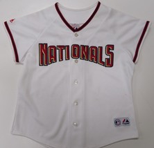 Jose Guillen #6 Nationals Youth Large White MLB Jersey Majestic Sewn $60 - $21.99