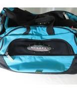 B.U.M Bum Equipment Teal Nylon Gym Bag Duffle Bag Carry On Luggage Vinta... - $44.51