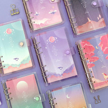 Moonlight Twinkle Diary A6 6 Holes Journal Planner Scheduler Notebook Or... - $17.99