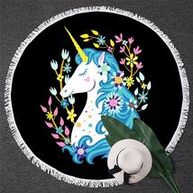 Blue Hair Unicorn Beach Towel - $12.32+
