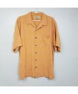 Tommy Bahama Mens Palm Tree 100% Silk Short Sleeve Orange Shirt Size Lar... - $26.17