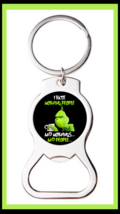 GRINCH I HATE MORNING PEOPLE FUNNY OFFENSIVE CUSTOM BOTTLE OPENER KEYCHAIN - $9.85