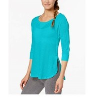 Calvin Klein Performance Cutout-Sleeve Top Women XXL Cyan NEW with tag - $14.44