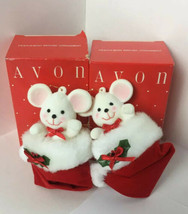 2 NEW AVON ~Peek-A-Boo Mouse Christmas Ornaments~ - $19.34