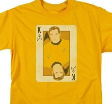 Star Trek Captain James Kirk playing card face anime graphic tee CBS1421 image 2