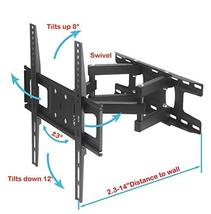 TV Wall Mount Bracket with Full Motion Articulating Dual Arm Swivel Tilt fit 23  image 2