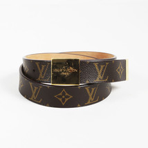 Louis Vuitton Brown Monogram Coated Canvas Gold Tone Buckle Belt - ₨18,820.25 INR