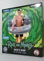 Rick and Morty RICK'S SHIP Inflatable Pool Tube PoolCandy Candy 48 in ad... - $23.47