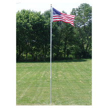 20 FT.VALLEY FORGE FLAGPOLE KIT W/ 3'x5' U.S. FLAG & 3'x5' POW-MIA FLAG ... - $272.00
