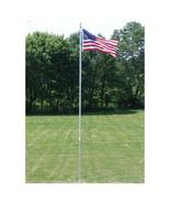 20 FT.VALLEY FORGE FLAGPOLE KIT W/ 3'x5' U.S. FLAG & 3'x5' POW-MIA FLAG ... - $272.00