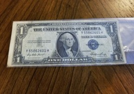1935 E SERIES 1 DOLLAR Silver Certificate blue seal - $11.87