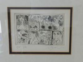Vintage Framed Artwork Signed Negron 1974 - $119.00