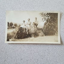 Vintage Photo Outdoors Family - $2.48