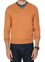 Nautica Mens Long Sleeve V-Neck Pullover Sweater Small S Tanglo Beige - $24.14
