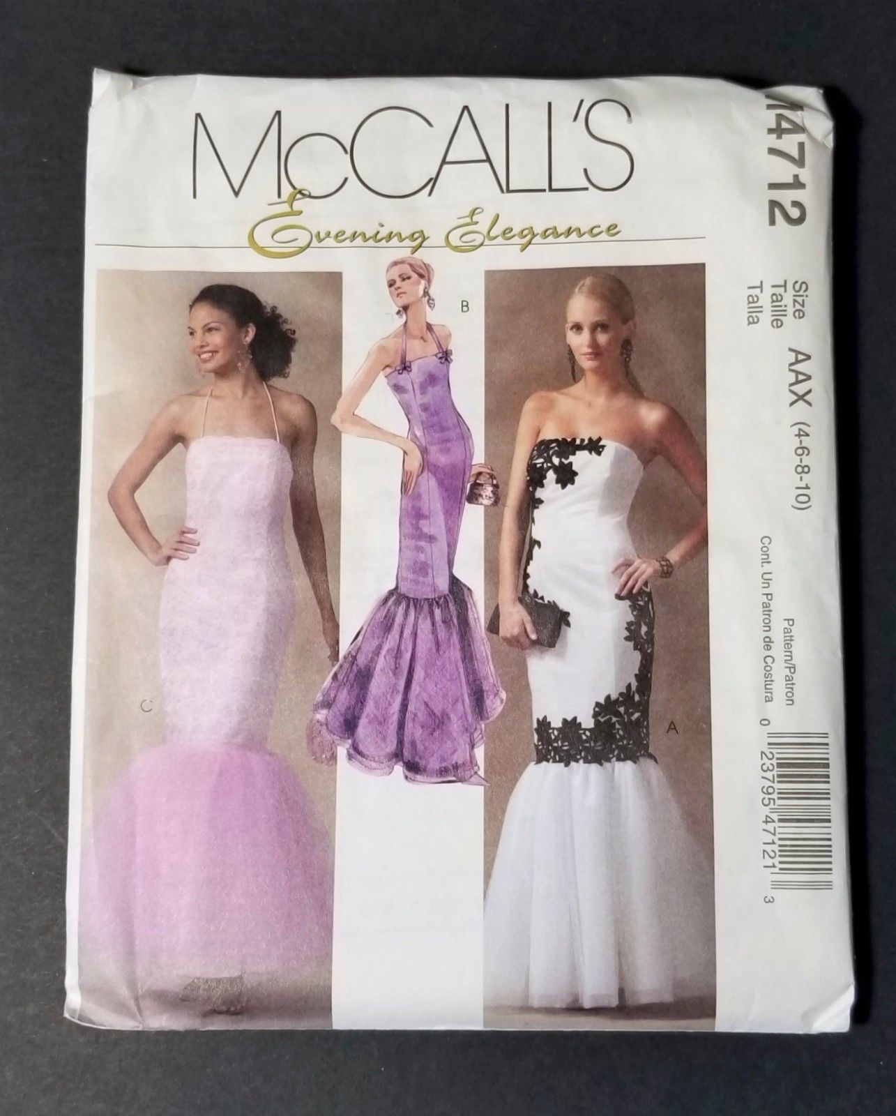 McCall\'s 4712 Mermaid Evening Gown Pattern and 44 similar items